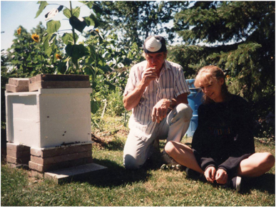 Dad's first hive